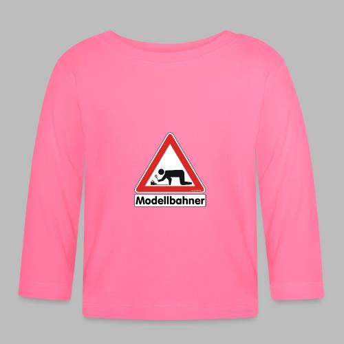 Warnschild Modellbahner E Lok - Baby Langarmshirt