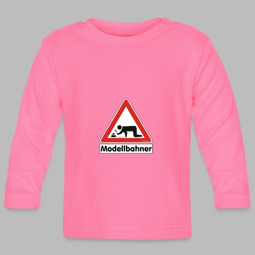 Warnschild Modellbahner Dampflok - Baby Langarmshirt