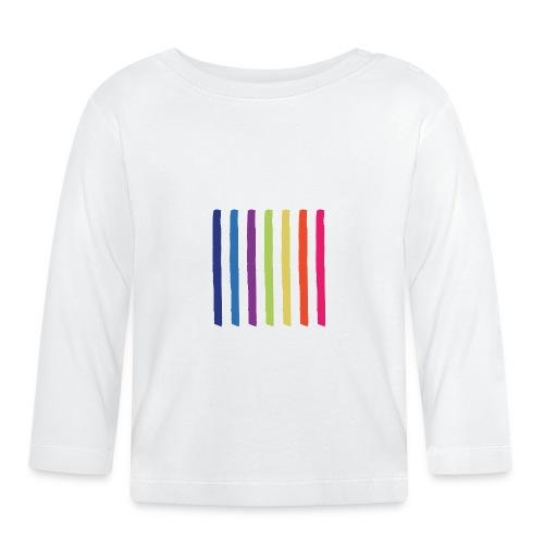 Linjer - Langærmet babyshirt