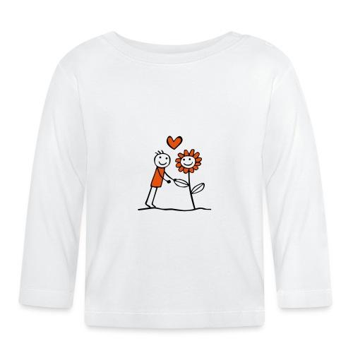 Flower friend - Baby Langarmshirt