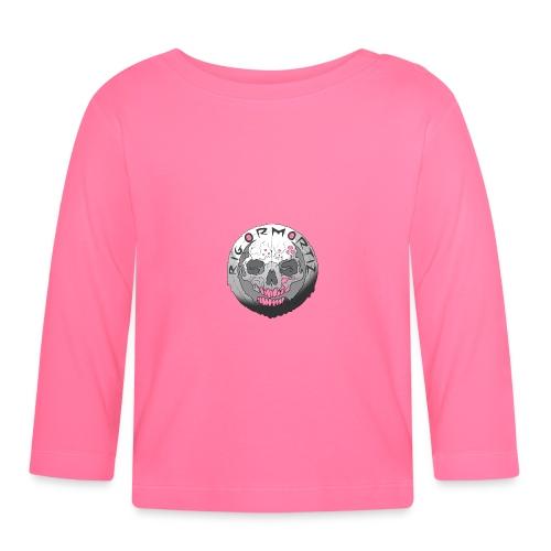 Rigormortiz Black and White Design - Baby Long Sleeve T-Shirt