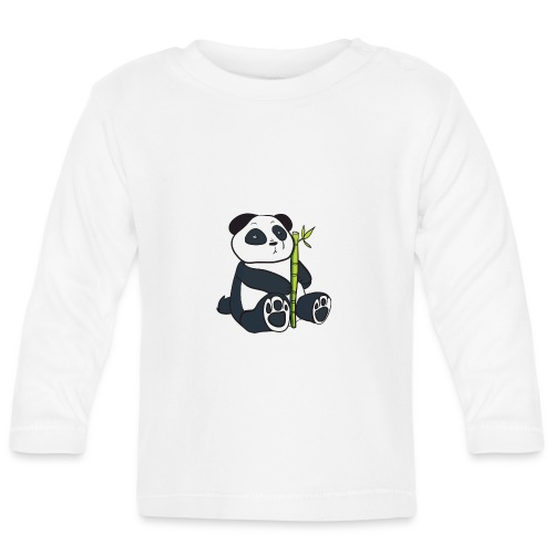 Oso Panda con Bamboo - Camiseta manga larga bebé