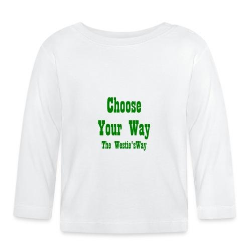Choose Your Way Green - Koszulka niemowlęca z długim rękawem