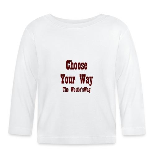 Choose Your Way Brown - Koszulka niemowlęca z długim rękawem
