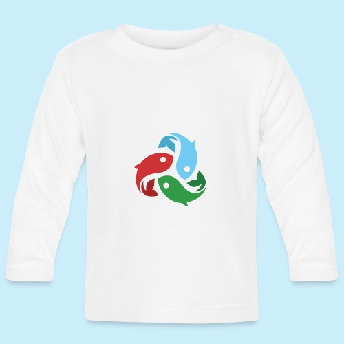 De fiskede fisk - Langærmet babyshirt