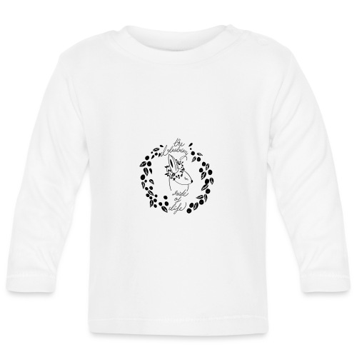 The blueberry side of life bunny - Baby Langarmshirt