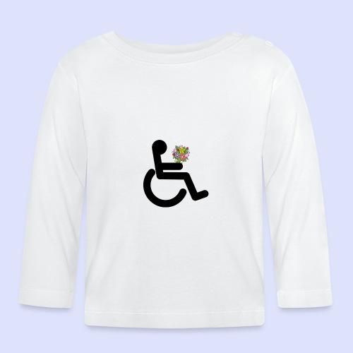 Rolstoel gebruiker met bloemen - T-shirt