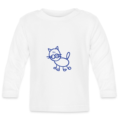 Tomcat Line Drawing Pixellamb - Baby Langarmshirt