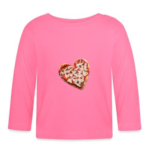 Pizza a cuore - Maglietta a manica lunga per bambini