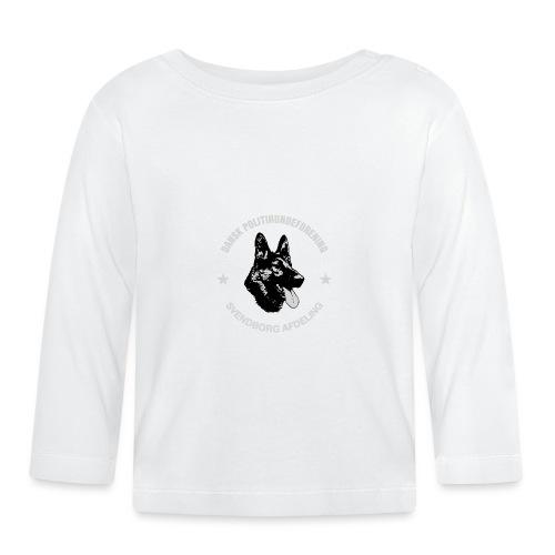 Svendborg PH hvid skrift - Langærmet babyshirt