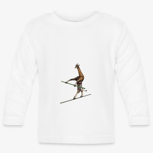 Giraffe Tightrope Walker - Baby Long Sleeve T-Shirt