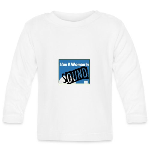 woman in sound - blue - Baby Long Sleeve T-Shirt