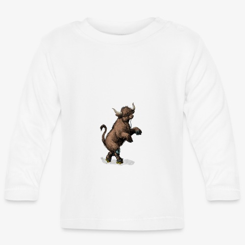 Highland Cow on roller skates - Baby Long Sleeve T-Shirt