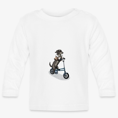 Dog Cyclist - Baby Long Sleeve T-Shirt