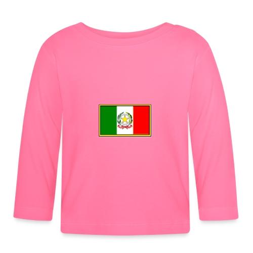Bandiera Italiana - Maglietta a manica lunga per bambini