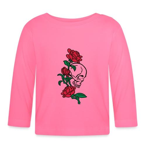 teschio e rose es123_2 - Maglietta a manica lunga per bambini