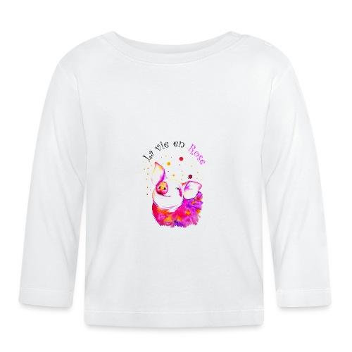 Cochon, porcinet la vie en rose - T-shirt manches longues Bébé