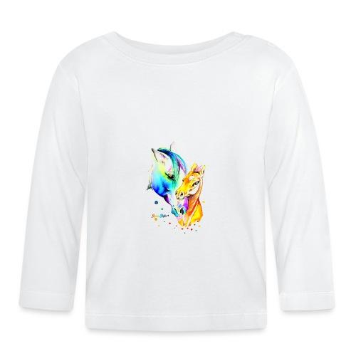 Jument et son poulain - T-shirt manches longues Bébé