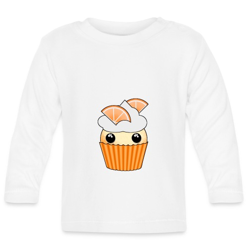 muffins apelsin orange med klyftor - Baby Long Sleeve T-Shirt
