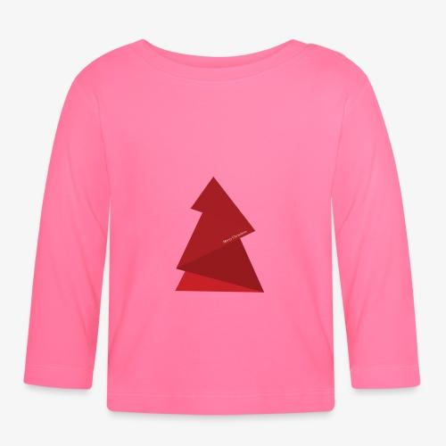 sapin triangles rouges - T-shirt manches longues Bébé