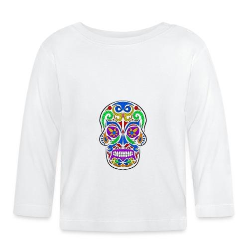 Abstract colorful skull - Maglietta a manica lunga per bambini