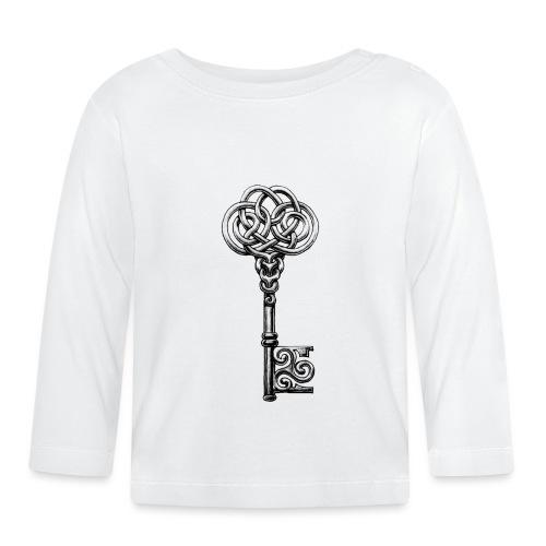 CHAVE-celtic-key-png - Camiseta manga larga bebé