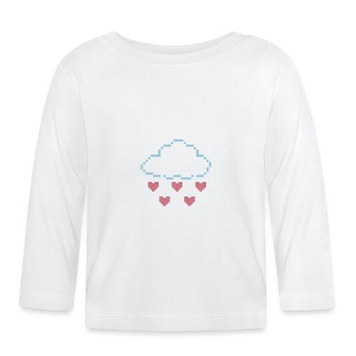Wolke Pixelherz - Baby Langarmshirt