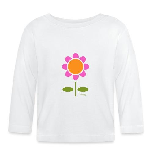 Retro flower - Vauvan pitkähihainen paita