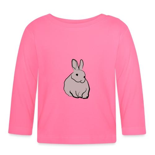Piirros pupu - väri - Vauvan pitkähihainen paita