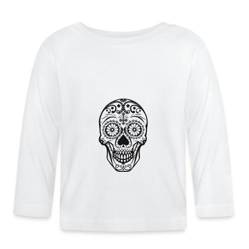 Skull black - Baby Langarmshirt