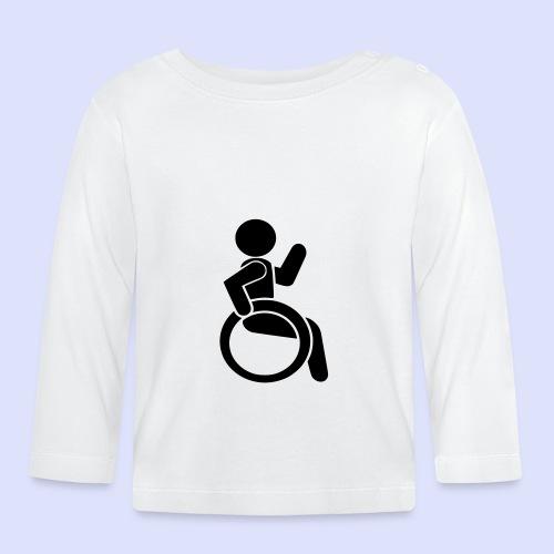 Zwaaiende rolstoel gebruiker 001 - T-shirt