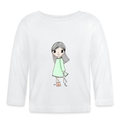 meisje met knuffel - T-shirt