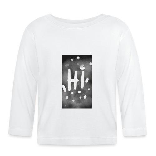 Hola o hi nublado - Camiseta manga larga bebé