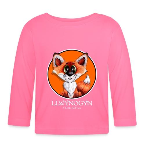 llwynogyn - a little red fox (white) - Baby Langarmshirt