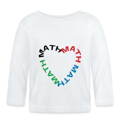 Math Text Heart - Baby Long Sleeve T-Shirt