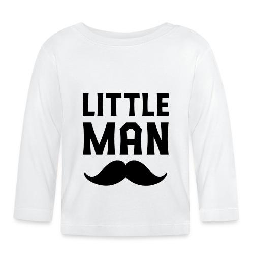 Vater Sohn Partnerlook Little Man - Baby Langarmshirt
