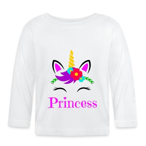 Mutter Tochter Partnerlook Queen Princess Einhorn - Baby Langarmshirt