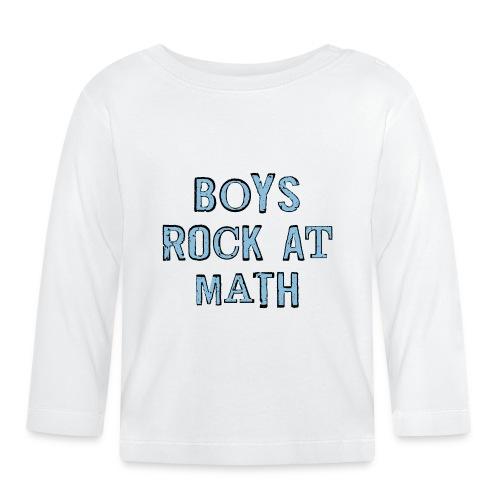 Boys Rock At Math - Baby Long Sleeve T-Shirt