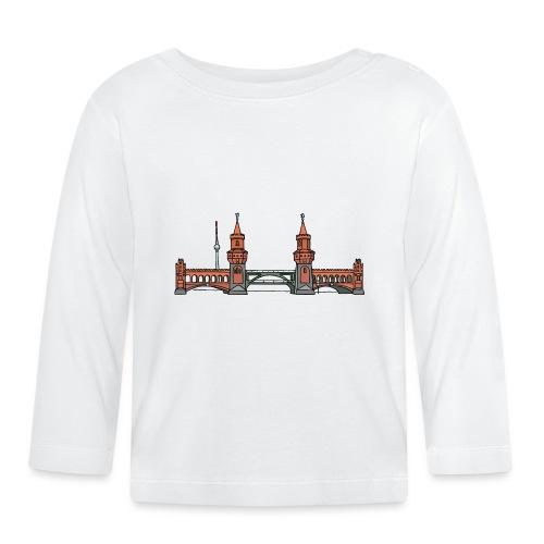 Oberbaumbrücke w Berlinie c - Koszulka niemowlęca z długim rękawem