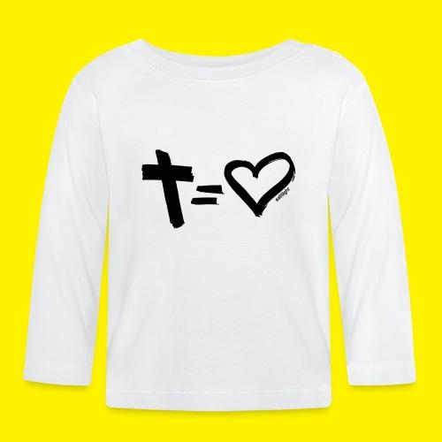 Cross = Heart BLACK - Baby Long Sleeve T-Shirt