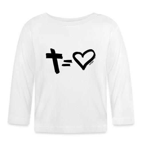 Cross = Heart BLACK // Cross = Love BLACK - Baby Long Sleeve T-Shirt