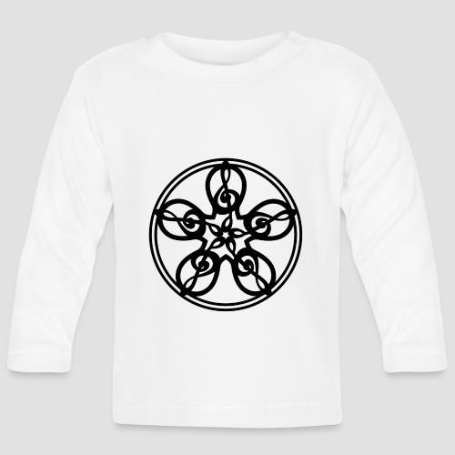 Treble Clef Mandala (black) - Baby Long Sleeve T-Shirt