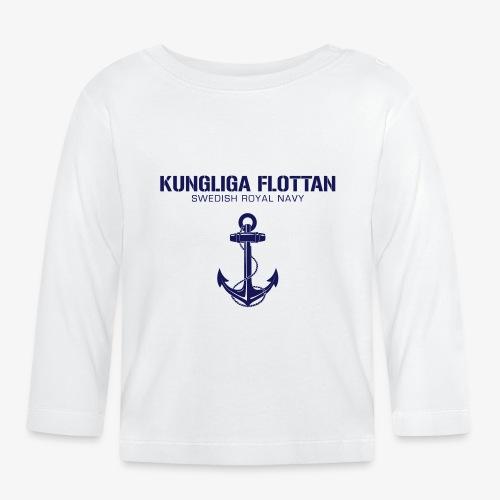 Kungliga Flottan - Swedish Royal Navy - ankare - Långärmad T-shirt baby