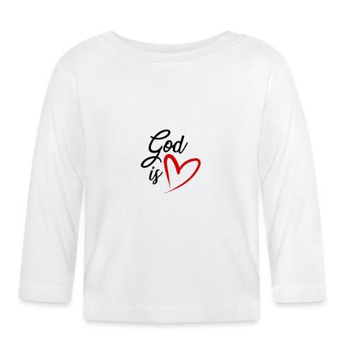 God is love 2N - Maglietta a manica lunga per bambini