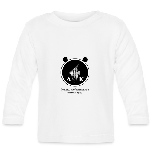 oeakloggamedsvarttext - Långärmad T-shirt baby