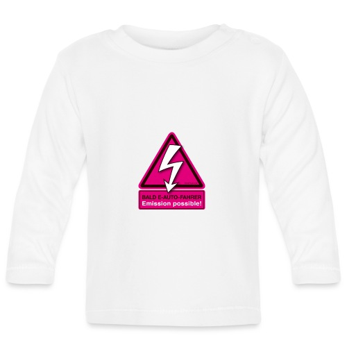 Bald E-AUTO-Fahrer - Emission possible - Baby Langarmshirt