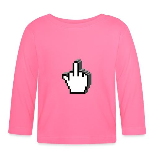 Middle_Finger_Design - Baby Long Sleeve T-Shirt