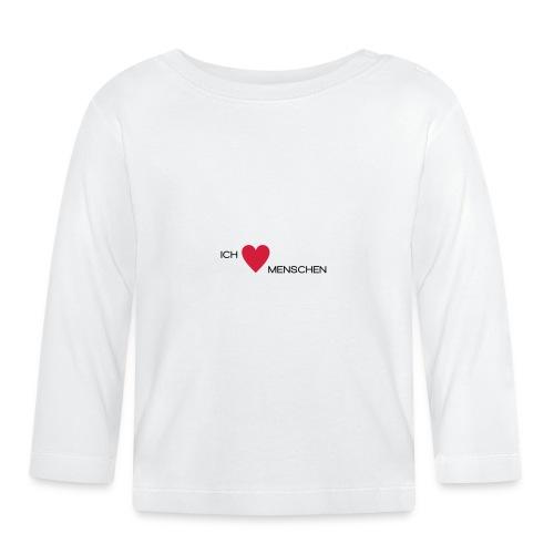 Ich liebe Menschen - Baby Langarmshirt