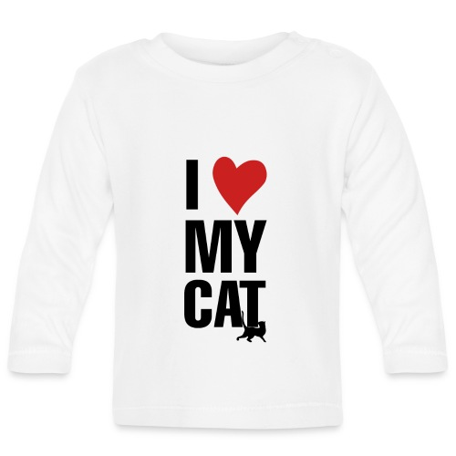 I_LOVE_MY_CAT-png - Camiseta manga larga bebé