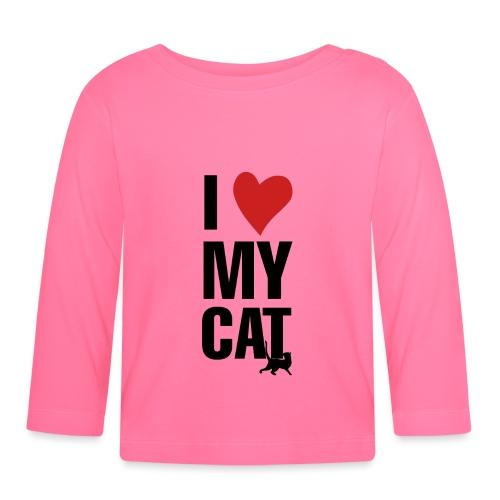 I_LOVE_MY_CAT-png - Camiseta manga larga bebé
